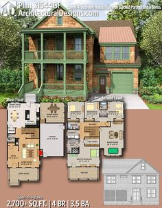 Architectural Designs Home Plan 31544GF Gives You 4 Bedrooms, 3.5 Baths And  2,700+ Sq. Ft. Ready When You Are! Where Do YOU Want To Build?