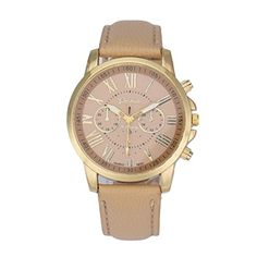 WatchSumilulu New Womens Fashion Geneva Roman Numerals Faux Leather Analog Quartz Wrist Watch *** For more information, visit image link.(It is Amazon affiliate link) #followme