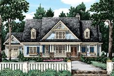 Country house plans create a relaxed yet luxurious feeling that welcomes visitors. Find cottage home plans, low country house plans, and modern farmhouses. House Plans One Story, New House Plans, Dream House Plans, House Floor Plans, Low Country Homes, Country Style House Plans, Country Farmhouse, Home Design Floor Plans, Craftsman House Plans