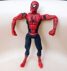 "2003 Marvel Spiderman 6""  ULTRA Posable Articulated Movie 1 Tobey Maguire #MarvelToys"