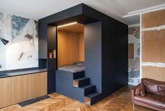 50 Small Studio Apartment Design Ideas - Modern, Tiny and Smart Small Studio Apartment Design, Tiny Studio Apartments, Studio Apartment Layout, Studio Layout, Small Room Design, Apartment Interior Design, Interior Decorating, Studio Apartment Storage, Studio Design