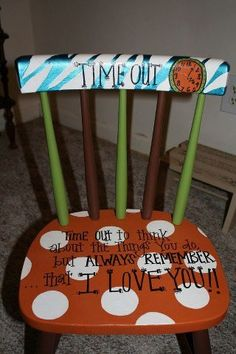 Decorated Time out Chair...