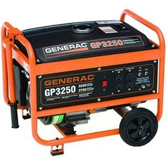 Generac 5789 GP3250, 3,250 Watt Portable Gas Powered Generator #Generac #PortableGenerator #Generator