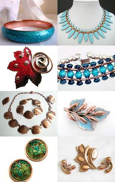 Renoir & Matisse Copper and Enameled Jewelry