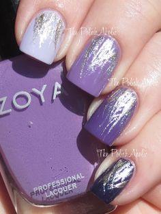 The PolishAholic: NOTD: Purple Ombre Waterfalls