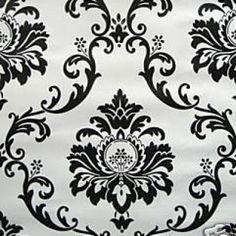 Modern Filigree Damask wallpaper $69 - fainting room