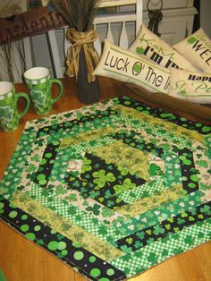 Irish Hexagon table topper