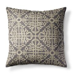 Embroided Lattice Pillow