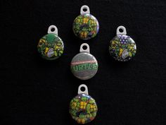 Set of 5 Teenage Mutant Ninja Turtles zipper by GrandmasBowsonETSY