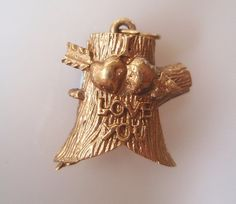 Vintage 9ct Gold Sweetheart Tree of Love Charm Opens