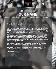 LOS ANGELES FOOTBALL CLUB #LAFC #LosAngeles #Football #Club [cc: @LAFC]