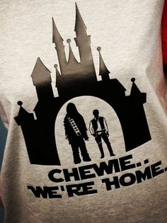 Chemise Disney Star Wars Chewie We Home. Chemise Disney Home par OnceUponATeeShop sur Etsy.