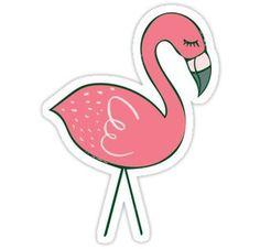 Campsite Flamingos Sticker