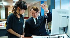 made by a German director; Hitler is teleported back to today. The film shows that no matter how he tries to gain back his power, the only thing he can do is to be a comedian.)  ** interesting. The story is not objective and indicates that loser will forever be a loser.  **reflect to today's politics,   we made fun of people we think are stupid/ arrogant/ indifferent/ untruthful