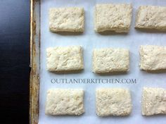 Bannocks at Castle Leoch This modern version of a castle staple is lighter and flakier than the dense pucks the Clan MacKenzie would have proclaimed delicious. Thanks be to wheat and baking powder.