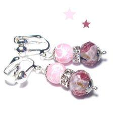 Ohrclips für Kinder zauberhafte Millefiori Perlen