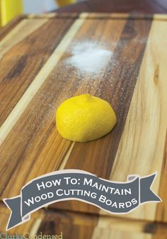 Wooden cutting boards can be a bit tricky to maintain. Find out how to make them last decades with this tutorial!