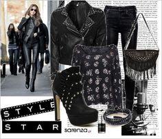Zestaw ubrań rock star   Rock star outfit  Stylizacja Rock star