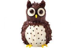 Make this simple, adorable owl cake!