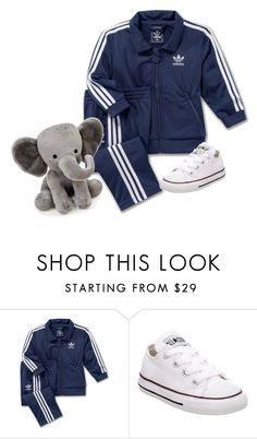 """Elias"" by slutify ❤ liked on Polyvore featuring adidas, Converse and Lambs and Ivy"