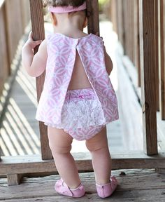 A girly pattern and a classic twist - Tangier Pink Swing Top