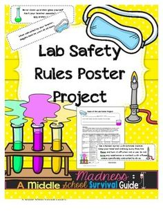 ★ Lab Safety- Rules of the Lab Poster Project ★ The purpose of this project is for students to work collaboratively with peers to create a poster communicating a class rule for lab safety.