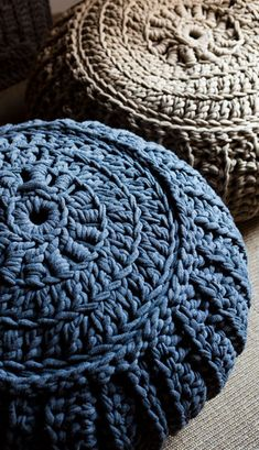 Visit the post for more. Crochet Box Stitch, Crochet Pouf, Crochet Carpet, Crochet Pillow, Knit Or Crochet, Knitted Ottoman, Knitted Pouf, Crochet Decoration, Crochet Home Decor