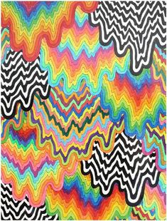 hippie painting ideas 97108935702282550 - Jen Stark Abstract Drawing / Watercolor: Cascade 2016 Source by Cute Canvas Paintings, Small Canvas Art, Mini Canvas Art, Easy Paintings, Colorful Paintings, Colorful Drawings, Pintura Hippie, Art Mini Toile, Art Sur Toile