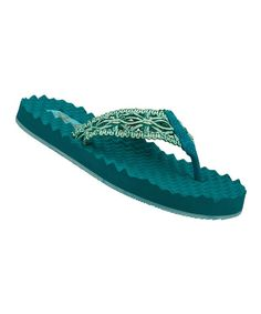 Take a look at the Teal Sea Bree Flip-Flop on #zulily today!