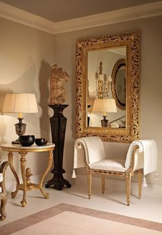 """furniture-meubles: """" Mobili Roberto Giovannini from Italy. Gilded Glory. """""""