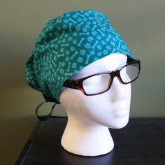 Dog Bones Surgical Scrub Hat by FourEyedCreations on Etsy, $15.00 https://www.etsy.com/listing/176761809/dog-bones-surgical-scrub-hat