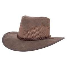 d2923b81 The Sirocco Sun Hat. Mesh & Leather Western Sun Hat w/ UV Protection  Sirocco, SolAir Hats from Head'n Home
