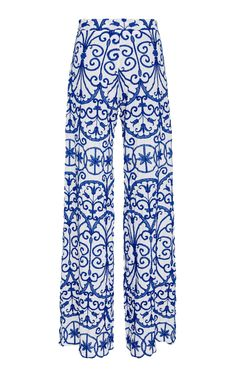 This **Alcoolique** Amelianna Embroidered Pant features a high waisted fit with a wide leg silhouette. Summer Sale, Pajama Pants, Trousers, Pajamas, Collection, Women, Fashion, Trouser Pants, Pjs