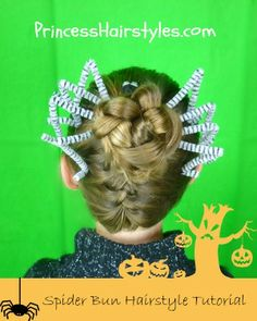 Halloween Hairstyle tutorial.  The Braided Spider!