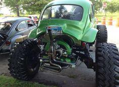 Monster Green VW Baja Bug