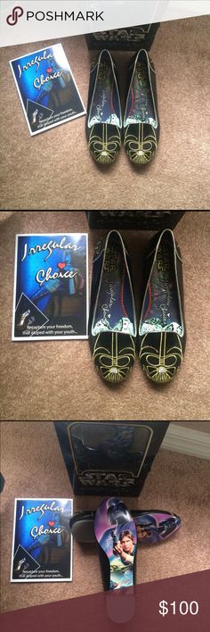 Irregular Choice Darth Vader Star Wars Shoes NIB Star Wars shoes. Size 8.5. These are so unique and cool looking! irregular choice  Shoes Flats & Loafers