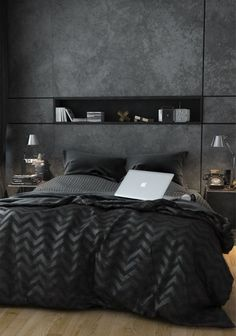 Love the concrete looking finish on the wall/unit