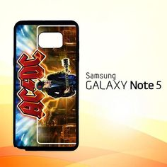 acdc logo wallpaper Y1485 Samsung Galaxy Note 5 Case
