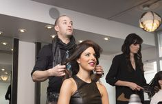 stylist and client consultation