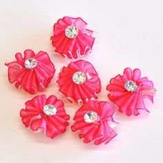 17mm Beaded Flowers for R22/50 Flowers per pack.  Thiese flowers are great to add to your scrap booking collection, also it comes in various colour options | Paradise Creative Crafts cc