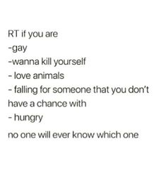 I'm not gay or falling for someone I don't have a chance with (I'm bi) ~said by Taylor (I told her I would post this)