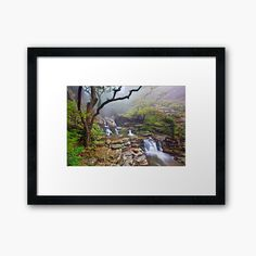 'Dimosari canyon, Evia island' Framed Print by Hercules Milas Beautiful Nature Spring, Amazing Nature, Summer Nature Photography, Mountain Photography, Nature Tattoo Sleeve, Nature Tattoos, Spring Pictures, Nature Drawing, Landscape Art