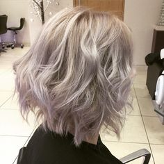 Love how the @wellahair #instamatics turned out - using smokey amethyst at the root and muted mauve through the mid lengths and ends to create a stonewashed winter blonde