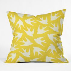 DENY Designs Home Accessories | Jacqueline Maldonado Birds Yellow Throw Pillow