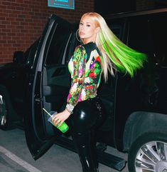Iggy Azalea, Fancy Iggy, Green Queen, The New Classic, Beautiful People, Pin Up, Leather Jacket, Punk, Hollywood