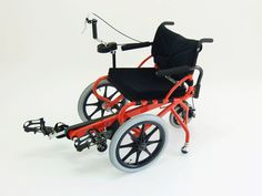 """Profhand"" : foot-pedal wheelchair. Why foot pedaling? This product for patients of  hemiplegia. The patients can do rehabilitation with moving the other legs. Price is around $ 3000."