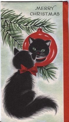 61 Best Black Cat Christmas images   Christmas cats ...