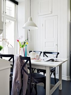 SMALL ROOM IDEAS IKEA NORDEN dining table with French Bistro chairs