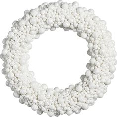 Glitterball Wreath in Christmas Decorating   Crate and Barrel