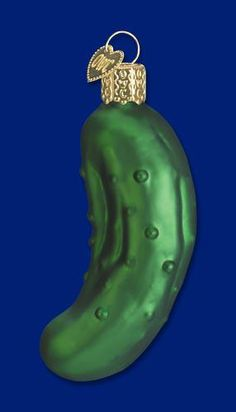 Pickle Ornament Glass Sweet Pickle Old World Christmas 28074 5